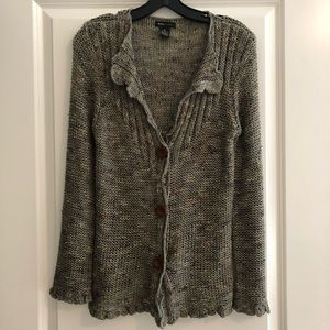 BCBGMaxazria Green Knit Cardigan Button Sweater